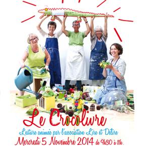 Biberon littéraire : Le Crocolivre > Mercredi 5 novembre 2014